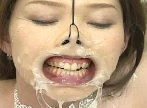 nose torture bukkake